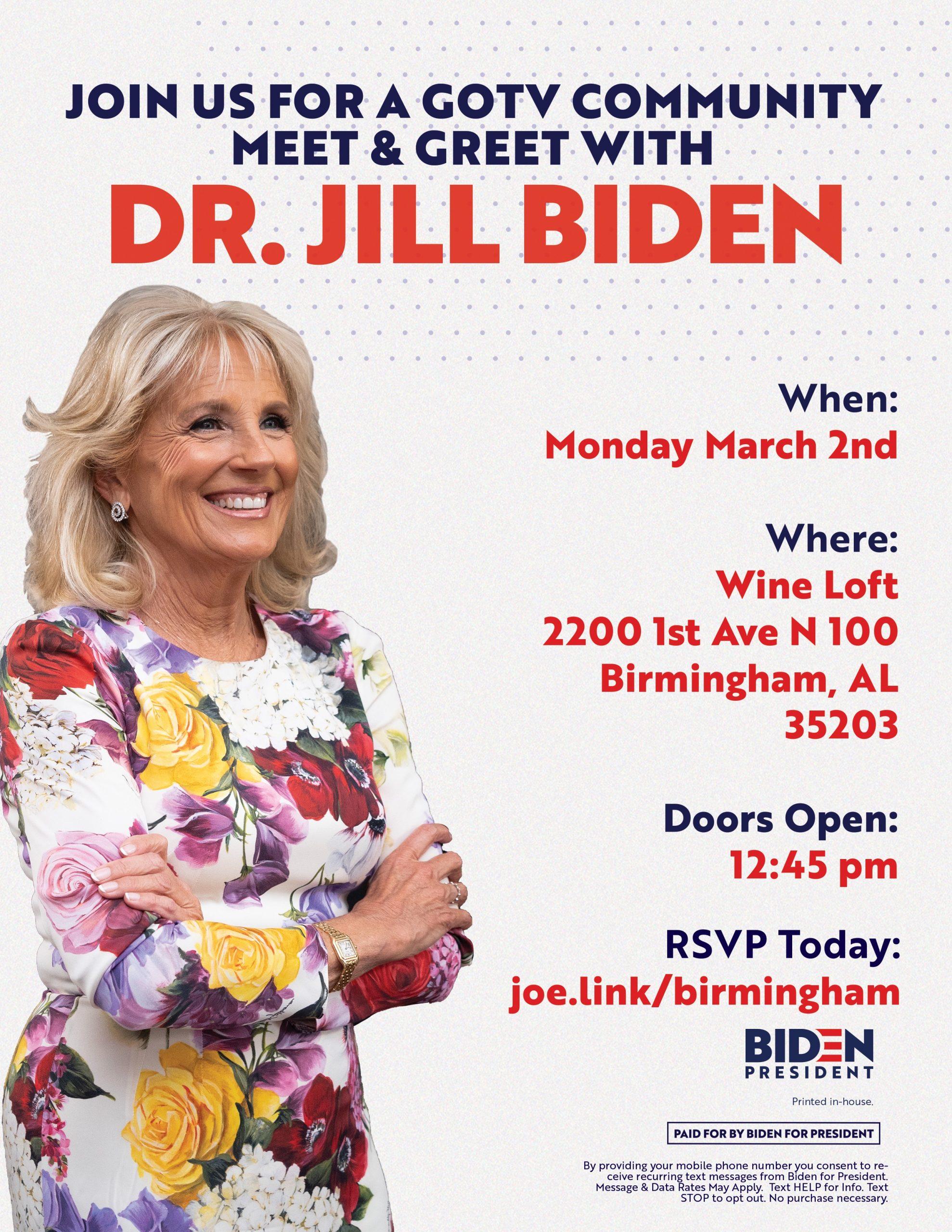 Dr. Jill Biden Meet & Greet